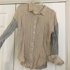 Button down free people shirt